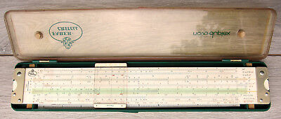 Faber Castell Novo Duplex 2/82 in Case ~ Vintage German Pecision Slide Rule