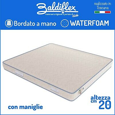 Materasso Waterfoam Poliuretano H 20 Cm Ortopedico Bordato Basic Con Maniglie