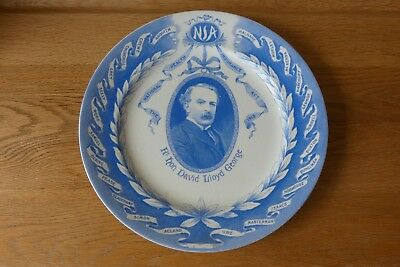 David Lloyd George Souvenir Plate Commemorate Nation Health Insurance Act 1912