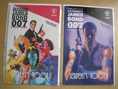 JAMES BOND, Serpent's Tooth issues 1 & 3 of 3 ISSUE 1992 SERIES by Moench,Gulacy