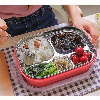 AU Children Stainless Steel Thermal Bento Lunch Box Food Storage Container SH