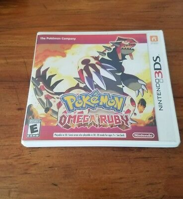 Pokemon Omega Ruby Nintendo 3DS Original Case Only - NO GAME