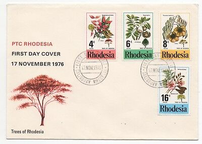 1976 RHODESIA First Day Cover TREES SG533 to SG536 Salisbury