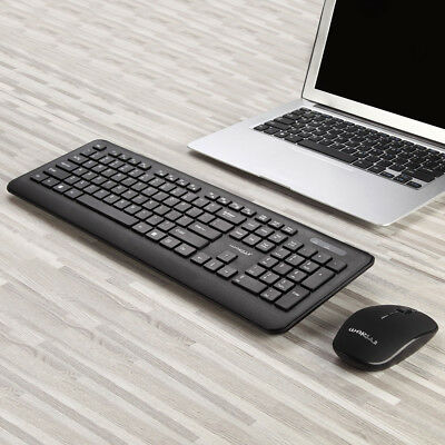 Mini 2.4G DPI Wireless Keyboard and Optical Mouse Combo for Desktop PC Black BP