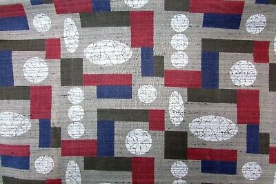 Vtg 50s Atomic MCM Mid Century 100% Cotton Sewing Quilting Fabric 35 x 2.75 yds