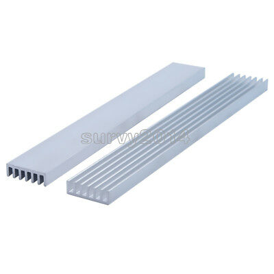 2Pcs Silver-White Heat Sink LED 150x20x6mm Heat Sink Aluminum Cooling Fin