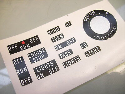 Handle + Main Switch Left Right Lettering Sticker Decal Sr500 Rd250 Rd350 Rd400
