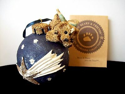 Boyds Bears Limited Edition Christmas Ornament Wilson w/Shooting Star 1990's Box