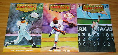 Baseball Greats #1-3 VF/NM complete series with cards - bob gibson - killebrew