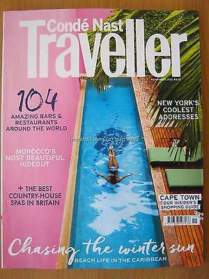 Conde Nast Traveller November 2015 New York Cape Town Caribbean Beach Life Bars
