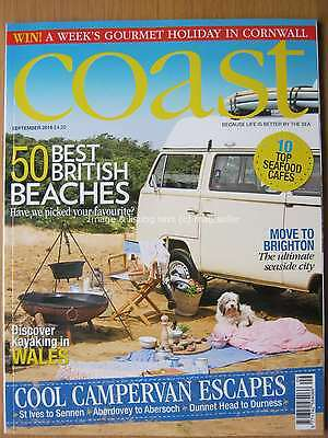 Coast September 2016 50 Best British Beaches Camper Van Escapes Wales Brighton