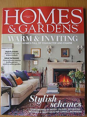 Homes & Gardens February 2016 Compact Bathrooms Decorating with Rugs