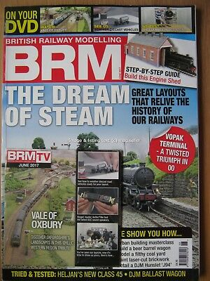 British Railway Modelling June 2017 Dream of Steam Vale of Oxbury Heljan 45 DVD