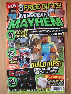 Minecraft Mayhem magazine first issue 1 Build Tips Beach Resort Medieval Bridge