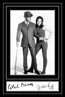 Photograph/Photo/Signed/Collectors/Print/The Avengers/Diana Rigg/Patrick Macnee
