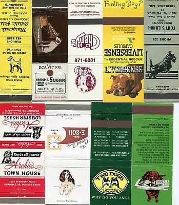 50 Dog Matchcovers - Many Different Dog Breeds