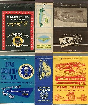 100 United States Military Front Strike Matchcovers - Military