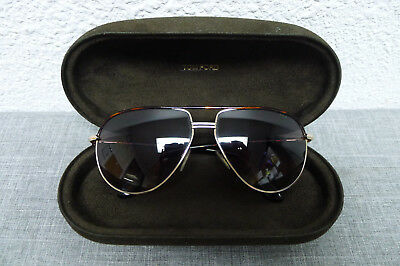Tom Ford TF 285 COLE FT0285 01J Gold Black G-15 Green Polarized Lens Sunglasses