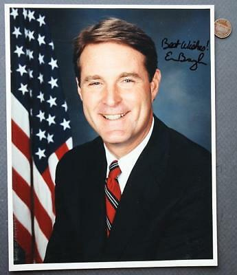 1989-97 Indiana Governor & Senator Evan Bayh signed-autographed color photo-NICE
