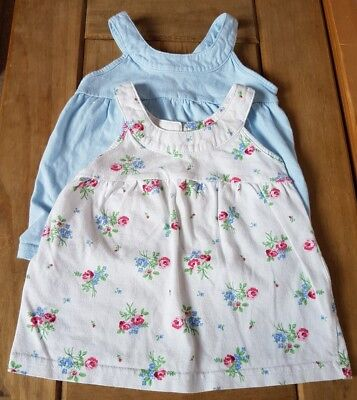 Next Pair Of Tops Blue & Floral 3/6 Months Combine Postage Build A Bundle