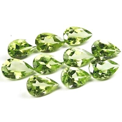 Wholesale Lot of 8x5mm Pear Facet Cut Natural Peridot Loose Calibrated Gemstone