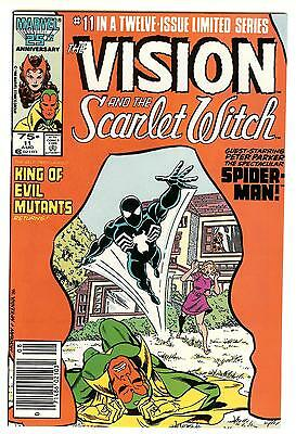 The Vision And The Scarlet Witch #11 (Spider-Man Black Costume) Nm 1986