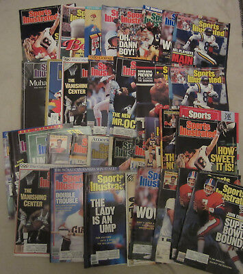 Lot of 35 Vintage Sports Illustrated 1988 back issue.