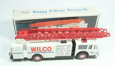 Servco Gasoline Fire Ladder Truck Toy Bank Dual Sound Battery Op 1990 IN BOX VTG