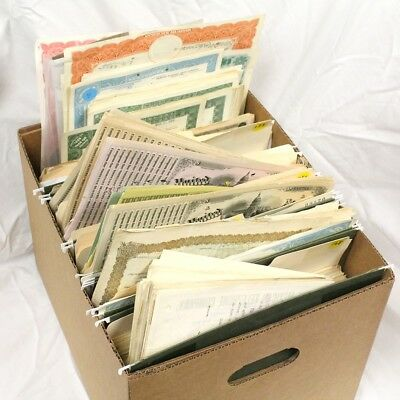 Group Lot of 1,794 Old Stocks and Tax Stamps 1870's thru 1960's Exact Lot Shown.