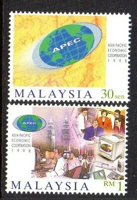 1998 MALAYSIA APEC CONFERENCE SG712-713 mint unhinged