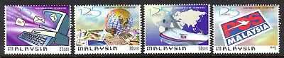 1999 MALAYSIA 125th ANNIVERSARY UNIVERSAL POSTAL UNION SG825-828 mint unhinged