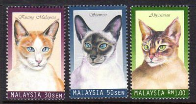 1999 MALAYSIA CATS SG727-729 mint unhinged