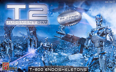 5x T-800 Endoskeletons Terminator 2 CHROME 1:32 Model Kit Bausatz Pegasus 9217