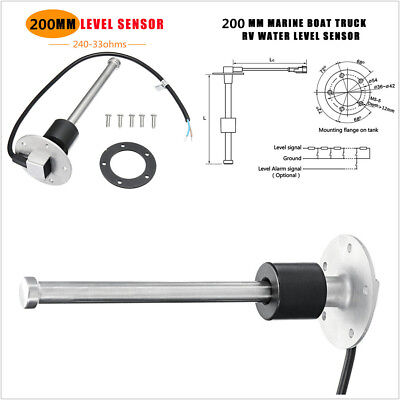 200mm Boat Fuel Sending Unit Car Truck Water Level Gauge Sensor 240-33ohms IP67