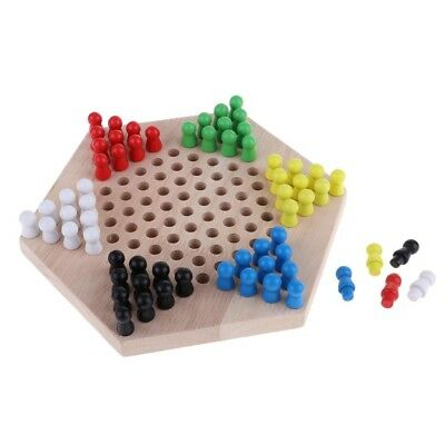 1 set chinese checkers six color of wooden checkers replacement game parts   JL