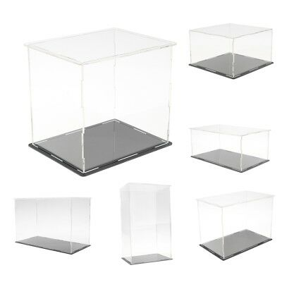 Clear Acrylic Display Box Dustproof Case for Figure Model Doll Toys Display Cube