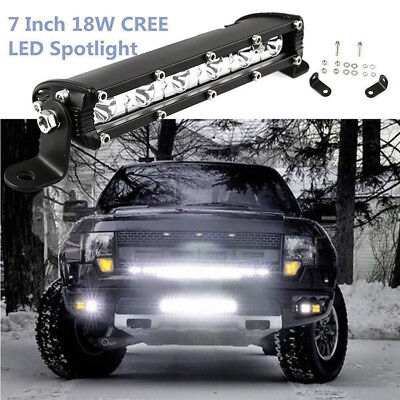 18W Cree LED Work Light Bar Flood Fog Driving Offroad Auto 4WD Reversing UTE