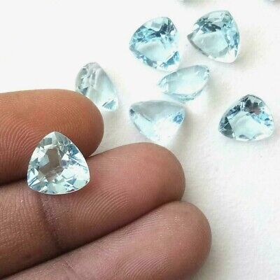 Wholesale Lot of 7x7mm Trillion Cut Natural Blue Topaz Loose Calibrated Gemstone