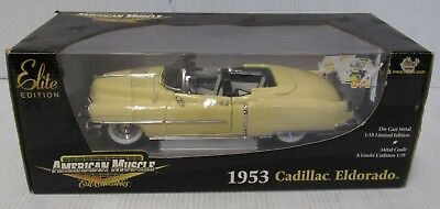 ERTL American Muscle 1953 Yellow Cadillac Eldorado New In Box