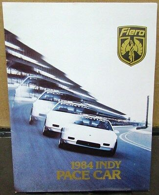 1984 Pontiac Fiero Indianapolis 500 Official Pace Car Press Kit Media Release GM