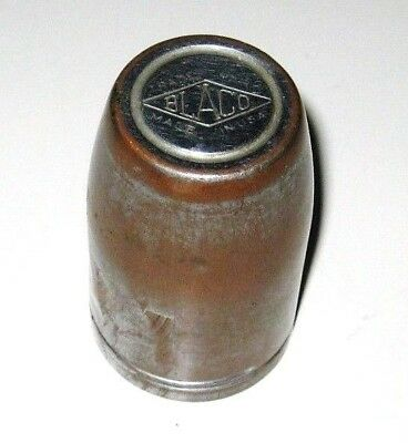 Antique OLD Vintage BLACO Silver COPPER Flask Thermos Flashlight Top Shot Glass