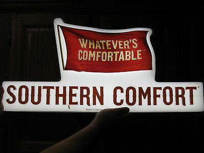 Southern Comfort Light Up Sign Whatever's Comfortable Bar Pub Man Cave