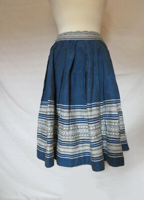 VTG 70's Guatemalan Ethnic Woven Embroidered Skirt SMALL