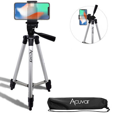 """Acuvar 50"""" inch Smartphone Tripod + Bag For iPhone Xr 11 Pro Xs Max 8 plus 7+ 6s"""