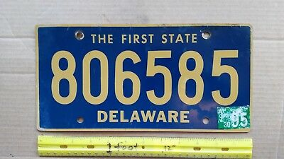 License Plate, Delaware, 1997, State Motto: The First State, 806585