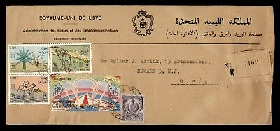 1963 Libya Official Multi Franked Registered To Usa