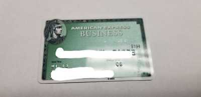 American Express  Business Expired Credit Card / Green