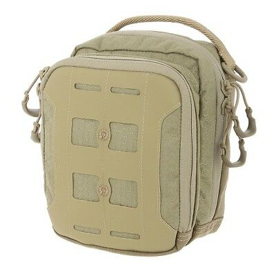 Maxpedition MXAUPTAN AUP Accordion Utility Pouch Tan Polymer Clips