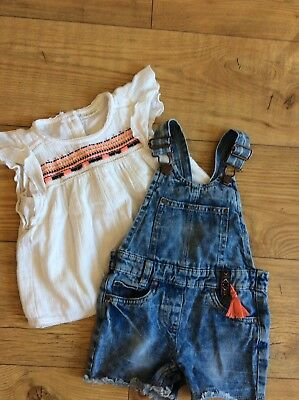 NWT Adorable Girls Funky Boutique Outfit ~ Size 12-18 mo ~ Like MisTeeVUs