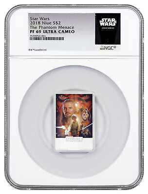 2018 Niue Star Wars Posters - Phantom Menace 1 oz Silver NGC PF69 UC SKU53663